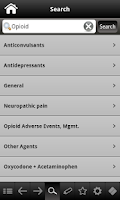 Screenshot of Pain Management pocketcards
