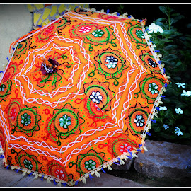Embroidered Umbrella by Prasanta Das - Artistic Objects Clothing & Accessories ( umbrella, display, embroidery )