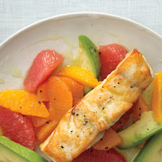 Pan-Roasted Sea Bass with Citrus and Avocado Oil
