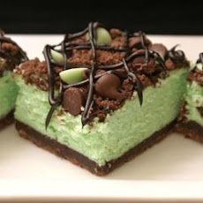 St. Patrick's Chocolate & Mint Cheesecake Bars