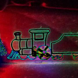 by Wesley Nesbitt - Abstract Light Painting ( mood, mood factory, holiday, christmas, hanukkah, red, green, lights, artifical, lighting, colors, Kwanzaa, blue, black, celebrate, tis the season, festive )