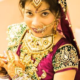 Indian Bride by Dinesh Tudu - Wedding Bride ( wedding photography, wedding photographers, indian jewllery, indian bride, indian wedding )