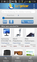 Screenshot of Surfpricer: Price comparison