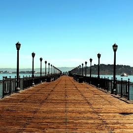 California Pier by Felix Collazo - Buildings & Architecture Bridges & Suspended Structures ( la and sanfran, piers, pier, bridge, san francisco )