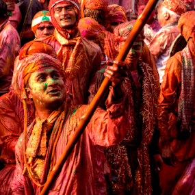 Holi Celebration by Debajit Bose - People Street & Candids ( vrindavan, colors, festival of colors, mathura, india, festival, people )