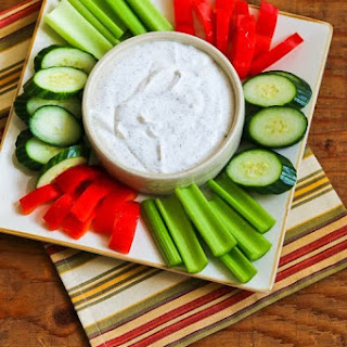 Greek Yogurt and Cottage Cheese Dip with Dill