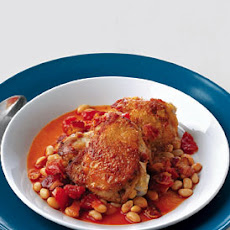 Baked Chicken with White Beans and Tomatoes