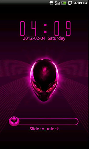 GO Locker Alien Pink theme