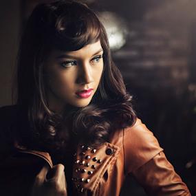 Deacy in brown jacket by Ivan Lee - People Portraits of Women ( canon, model, girl, beauty,  )