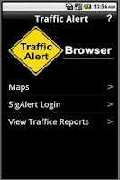 Screenshot of Traffic Alert