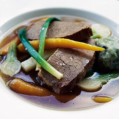 Boiled Beef & Carrots With Parsley Dumplings