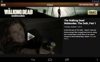 Screenshot of AMC for tablet