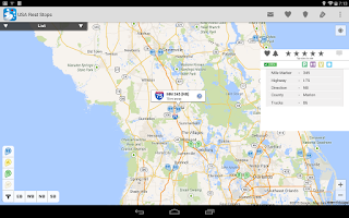 Screenshot of USA Rest Stop Locator
