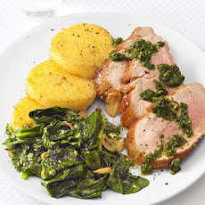 Pesto Pork With Polenta