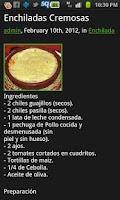 Screenshot of Recetas de Cocina