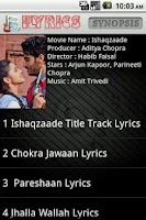 Screenshot of i LYRICS Hindi Songs
