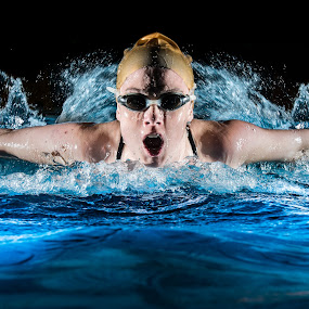 Breast Stroke by Jim Harmer - Sports & Fitness Swimming