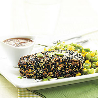 Seared Sesame Tuna with Orange-Ginger Sauce