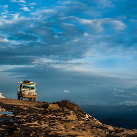 road ends here by Arnav Tandon - Transportation Automobiles ( #road #jeep )