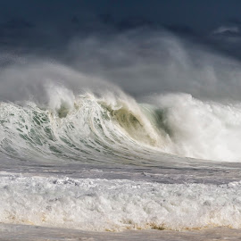 Hawaiian Blizzard by Kelly Headrick - Nature Up Close Water ( water, waves, sea, ocean, seascape, beach, rough, oahu, huge, swell, wave, north shoe, big, barrel, surf, hawaii )