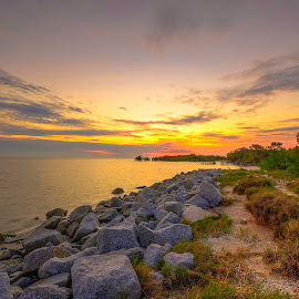 sunset in beach by Ziz Abd Aziz - Landscapes Sunsets & Sunrises (  )