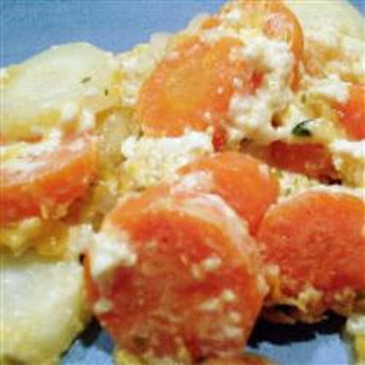 Carrot Casserole with Cheese