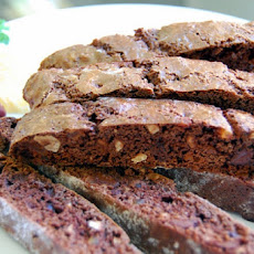 Chocolate, Hazelnut and Ginger Biscotti