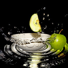 by Dipali S - Food & Drink Fruits & Vegetables ( juicy, splash, diet, drop, breakfast, leaf, water drop, life, nature, fresh, juice, lifestyle, healthcare, water, isolated, fruit, green, white, delicious, waterdrops, health, product, nutrition, red, splashing, food, apple, background, ripe, summer, healthy, freshness, eat, vitamin, garden, natural )