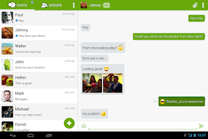 Screenshot of Piip Messenger