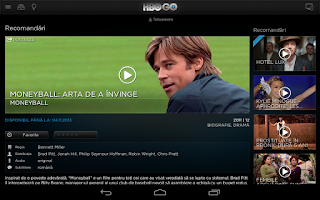 Screenshot of HBO GO Romania