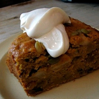 Pumpkin Spice Cake With Maple Ginger Mascarpone Topping