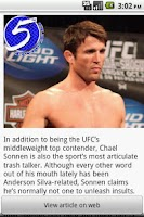 Screenshot of MMA News