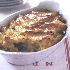 Bread and Butter Pudding with Whisky-soaked Raisins