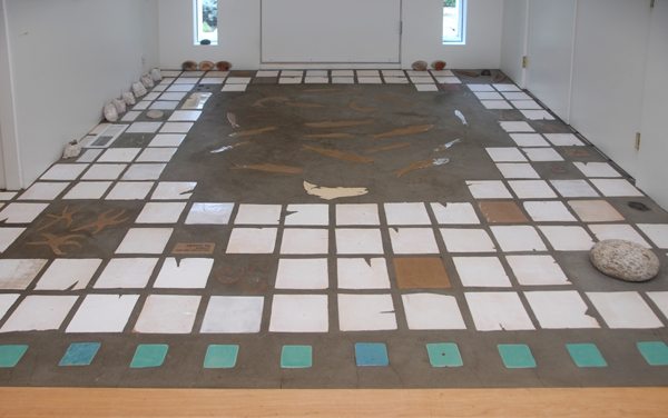 Floor Tiles <br><br>Stoneware, high fired with glaze