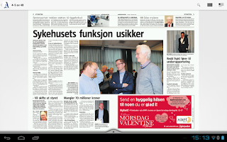 Screenshot of Agderposten eAvis