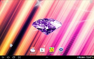 Screenshot of Diamonds Live Wallpaper