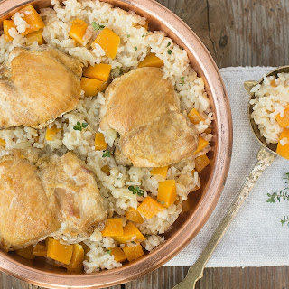 One Pot Chicken and Rice with Butternut Squash