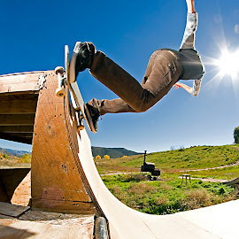 Backside Lipslide by Jake Pedroza - Sports & Fitness Skateboarding ( canon, skateboarding, flash, halfpipe )