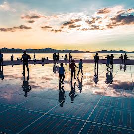 Zadar by Stephen Bridger - City,  Street & Park  Street Scenes ( adriatic, reflection, europe, sea organ, croatia, sea, ocean, travel, zadar, travel photography, street photography )