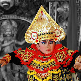 Baris Dance Bali by Angga Bagoes - People Musicians & Entertainers ( bali, indonesia, traditional, dance, culture, dancer )