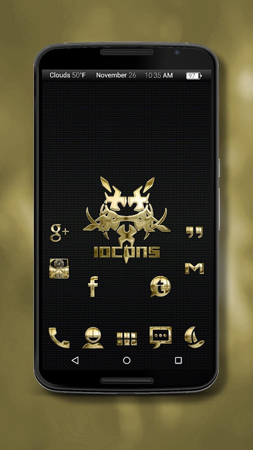 Iocons Gold - Icon Pack Screenshot 1