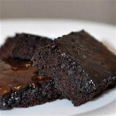 Make-Ahead Glazed Brownies