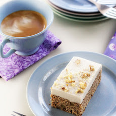 Frosted Carrot Cake Quinoa Bars