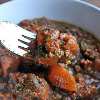 The Quintessential Fall Chili with Beef and Sweet Potatoes