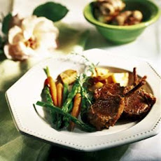 Rack of Spring Lamb with Roasted Garlic
