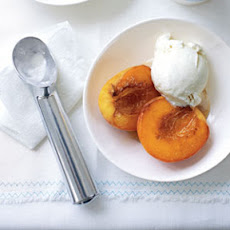 Caramelized Peaches with Ice Cream