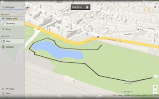 Screenshot of Maps Measure