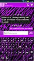 Screenshot of GO SMS Purple Zebra Theme