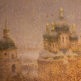 Kiev Monastery by Hannah Maison - Artistic Objects Furniture ( kiev, monastery, snow, painting,  )