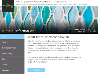 Four Seasons Resort Orlando - screenshot